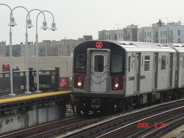 (159k, 640x480)<br><b>Country:</b> United States<br><b>City:</b> New York<br><b>System:</b> New York City Transit<br><b>Line:</b> IRT White Plains Road Line<br><b>Location:</b> West Farms Sq./East Tremont Ave./177th St. <br><b>Route:</b> 2<br><b>Car:</b> R-142 or R-142A (Number Unknown)  <br><b>Photo by:</b> DeAndre Burrell<br><b>Date:</b> 6/30/2005<br><b>Viewed (this week/total):</b> 1 / 3655