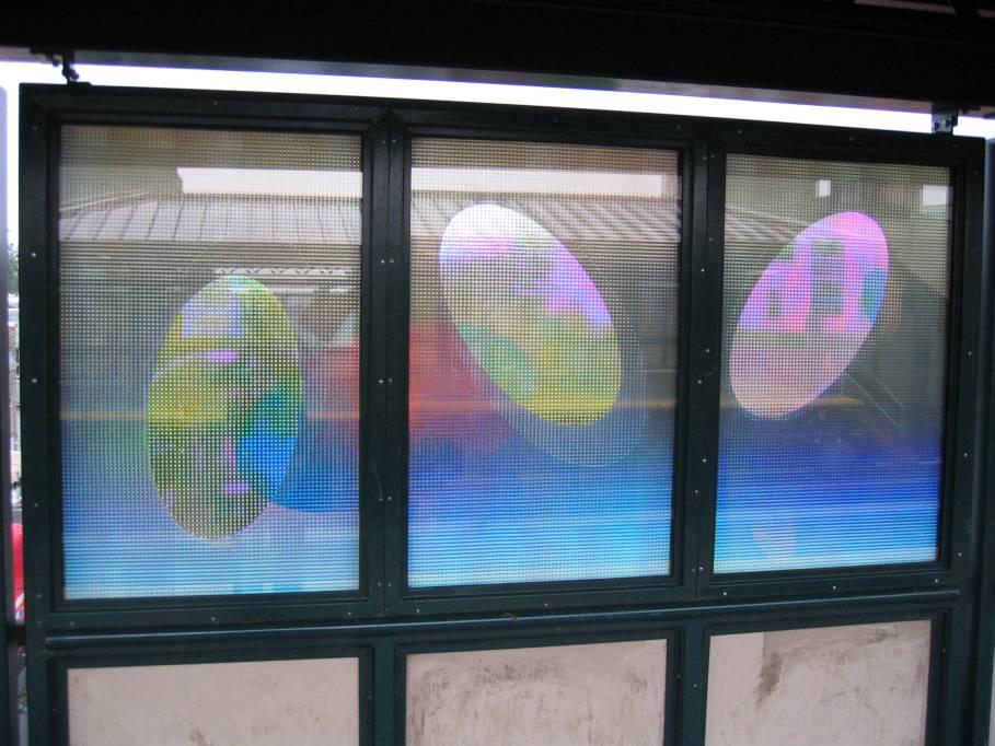 (94k, 909x682)<br><b>Country:</b> United States<br><b>City:</b> New York<br><b>System:</b> New York City Transit<br><b>Line:</b> IRT Flushing Line<br><b>Location:</b> 74th Street/Broadway <br><b>Photo by:</b> Robbie Rosenfeld<br><b>Date:</b> 7/6/2005<br><b>Artwork:</b> <i>Passage</i>, Tom Patti (2004).<br><b>Viewed (this week/total):</b> 1 / 2367