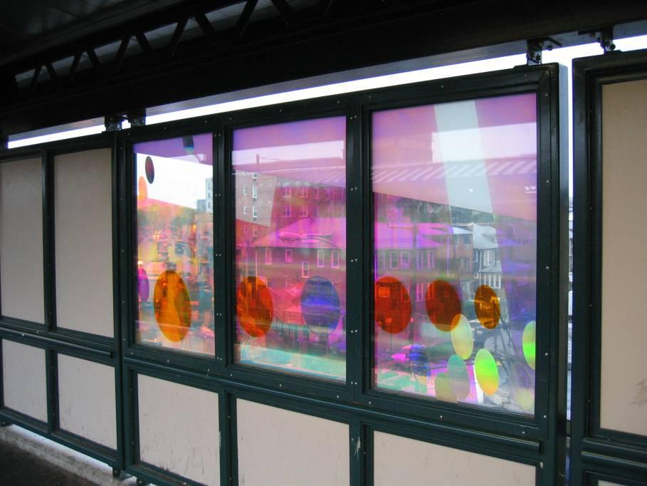 (73k, 909x682)<br><b>Country:</b> United States<br><b>City:</b> New York<br><b>System:</b> New York City Transit<br><b>Line:</b> IRT Flushing Line<br><b>Location:</b> 74th Street/Broadway <br><b>Photo by:</b> Robbie Rosenfeld<br><b>Date:</b> 7/6/2005<br><b>Artwork:</b> <i>Passage</i>, Tom Patti (2004).<br><b>Viewed (this week/total):</b> 6 / 2407