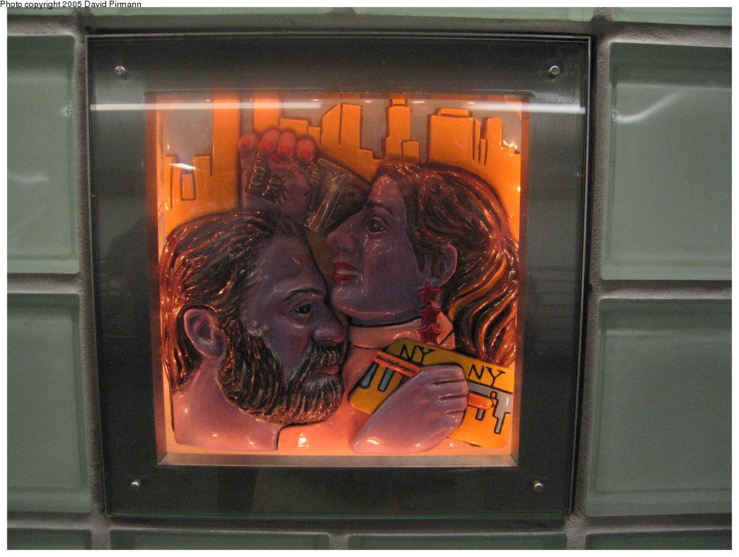 (176k, 1044x788)<br><b>Country:</b> United States<br><b>City:</b> New York<br><b>System:</b> New York City Transit<br><b>Line:</b> IRT West Side Line<br><b>Location:</b> Times Square/42nd Street <br><b>Photo by:</b> David Pirmann<br><b>Date:</b> 9/6/2005<br><b>Artwork:</b> <i>Times Square Times: 35 Times</i>, Toby Buonagurio (2005).<br><b>Viewed (this week/total):</b> 2 / 2055