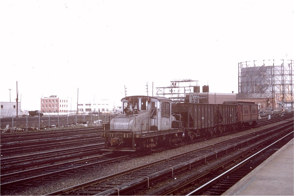 (156k, 1024x683)<br><b>Country:</b> United States<br><b>City:</b> New York<br><b>System:</b> New York City Transit<br><b>Location:</b> Rockaway Park Yard<br><b>Car:</b> SBK Steeplecab 5 <br><b>Photo by:</b> Bob Epstein<br><b>Collection of:</b> Joe Testagrose<br><b>Date:</b> 5/1965<br><b>Viewed (this week/total):</b> 0 / 3185