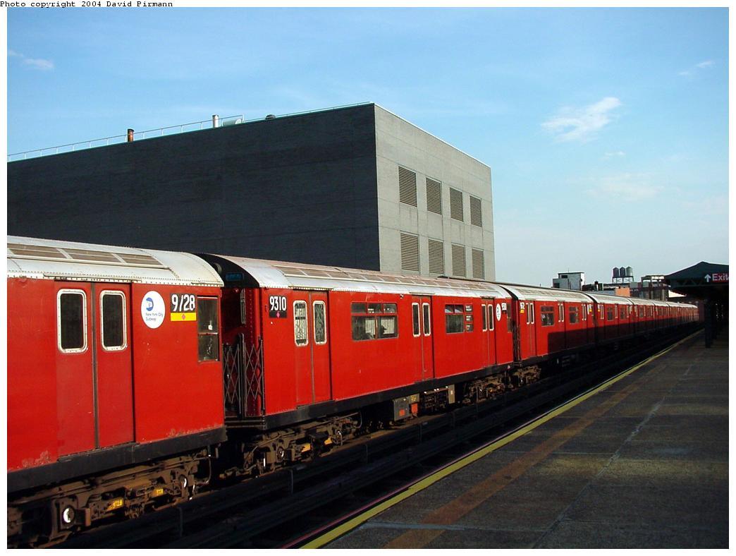 (104k, 1044x788)<br><b>Country:</b> United States<br><b>City:</b> New York<br><b>System:</b> New York City Transit<br><b>Line:</b> IRT Flushing Line<br><b>Location:</b> Court House Square/45th Road <br><b>Route:</b> 7<br><b>Car:</b> R-33 World's Fair (St. Louis, 1963-64) 9310 <br><b>Photo by:</b> David Pirmann<br><b>Date:</b> 7/16/2001<br><b>Viewed (this week/total):</b> 2 / 2507