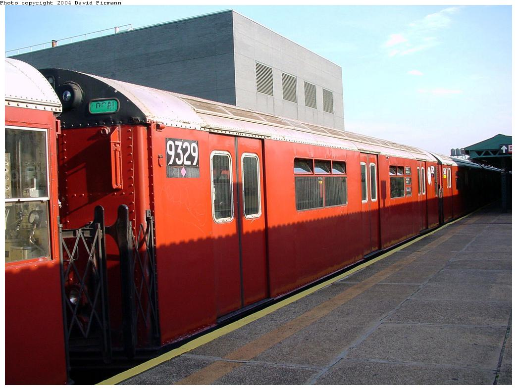 (121k, 1044x788)<br><b>Country:</b> United States<br><b>City:</b> New York<br><b>System:</b> New York City Transit<br><b>Line:</b> IRT Flushing Line<br><b>Location:</b> Court House Square/45th Road <br><b>Route:</b> 7<br><b>Car:</b> R-33 World's Fair (St. Louis, 1963-64) 9329 <br><b>Photo by:</b> David Pirmann<br><b>Date:</b> 7/16/2001<br><b>Viewed (this week/total):</b> 1 / 2634