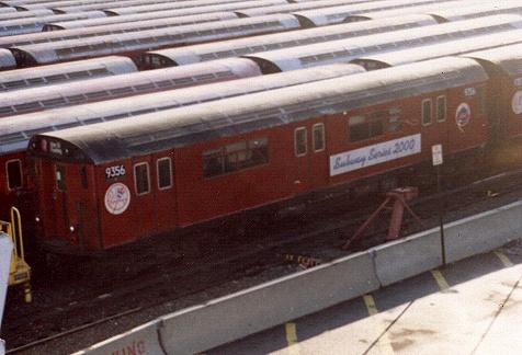 (81k, 476x324)<br><b>Country:</b> United States<br><b>City:</b> New York<br><b>System:</b> New York City Transit<br><b>Location:</b> Corona Yard<br><b>Car:</b> R-36 World's Fair (St. Louis, 1963-64) 9356 <br><b>Photo by:</b> Gary Chatterton<br><b>Date:</b> 1/2002<br><b>Viewed (this week/total):</b> 0 / 2511