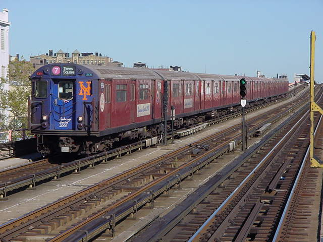 (60k, 640x480)<br><b>Country:</b> United States<br><b>City:</b> New York<br><b>System:</b> New York City Transit<br><b>Line:</b> IRT Flushing Line<br><b>Location:</b> 33rd Street/Rawson Street <br><b>Route:</b> 7<br><b>Car:</b> R-36 World's Fair (St. Louis, 1963-64) 9394 <br><b>Photo by:</b> Salaam Allah<br><b>Date:</b> 9/17/2002<br><b>Viewed (this week/total):</b> 5 / 4029
