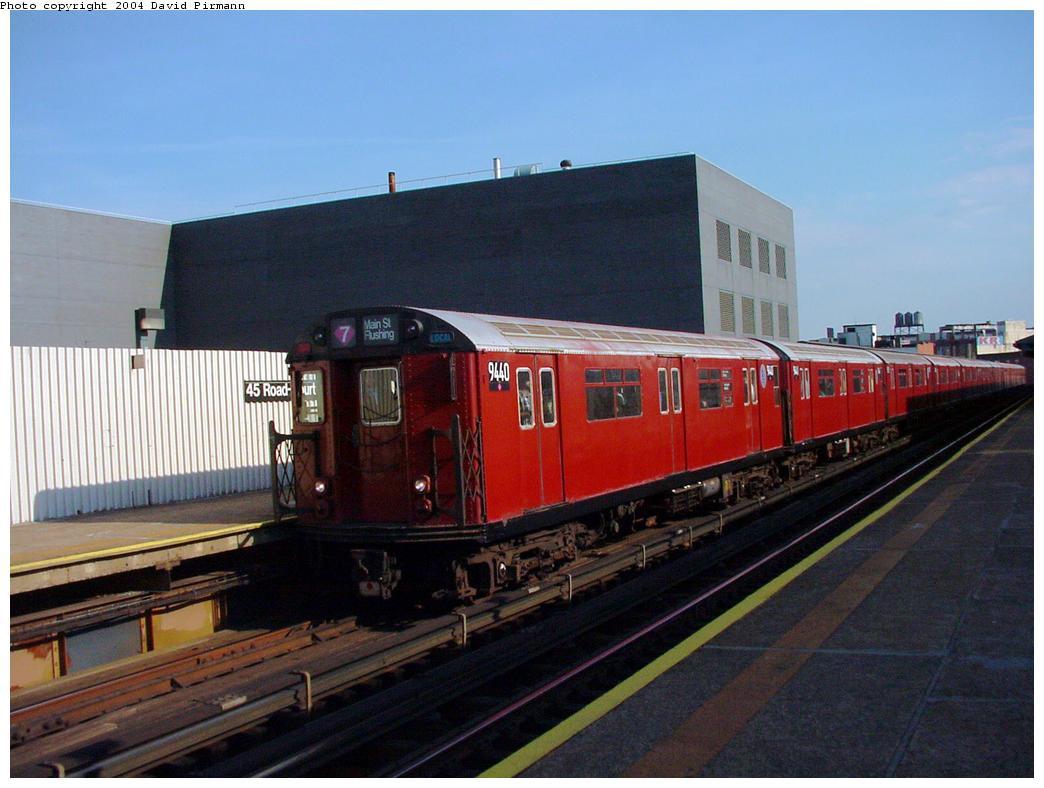 (108k, 1044x788)<br><b>Country:</b> United States<br><b>City:</b> New York<br><b>System:</b> New York City Transit<br><b>Line:</b> IRT Flushing Line<br><b>Location:</b> Court House Square/45th Road <br><b>Route:</b> 7<br><b>Car:</b> R-36 World's Fair (St. Louis, 1963-64) 9440 <br><b>Photo by:</b> David Pirmann<br><b>Date:</b> 7/16/2001<br><b>Viewed (this week/total):</b> 0 / 2371