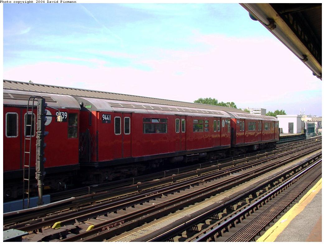 (131k, 1044x788)<br><b>Country:</b> United States<br><b>City:</b> New York<br><b>System:</b> New York City Transit<br><b>Line:</b> IRT Flushing Line<br><b>Location:</b> 69th Street/Fisk Avenue <br><b>Route:</b> 7<br><b>Car:</b> R-36 World's Fair (St. Louis, 1963-64) 9441 <br><b>Photo by:</b> David Pirmann<br><b>Date:</b> 7/16/2001<br><b>Viewed (this week/total):</b> 1 / 2733