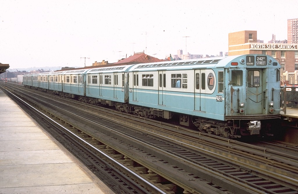 (181k, 1024x669)<br><b>Country:</b> United States<br><b>City:</b> New York<br><b>System:</b> New York City Transit<br><b>Line:</b> IRT West Side Line<br><b>Location:</b> 231st Street<br><b>Route:</b> 1<br><b>Car:</b> R-36 World's Fair (St. Louis, 1963-64) 9497 <br><b>Collection of:</b> Joe Testagrose<br><b>Date:</b> 1972<br><b>Viewed (this week/total):</b> 1 / 5583