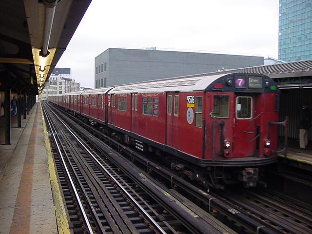 (60k, 640x480)<br><b>Country:</b> United States<br><b>City:</b> New York<br><b>System:</b> New York City Transit<br><b>Line:</b> IRT Flushing Line<br><b>Location:</b> Court House Square/45th Road <br><b>Route:</b> 7<br><b>Car:</b> R-36 World's Fair (St. Louis, 1963-64) 9576 <br><b>Photo by:</b> Salaam Allah<br><b>Date:</b> 9/27/2002<br><b>Viewed (this week/total):</b> 1 / 4043