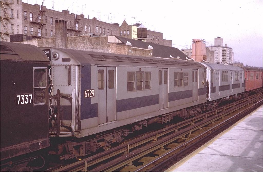 (211k, 1024x672)<br><b>Country:</b> United States<br><b>City:</b> New York<br><b>System:</b> New York City Transit<br><b>Line:</b> IRT West Side Line<br><b>Location:</b> 231st Street <br><b>Route:</b> 1<br><b>Car:</b> R-17 (St. Louis, 1955-56) 6729 <br><b>Photo by:</b> Steve Zabel<br><b>Collection of:</b> Joe Testagrose<br><b>Date:</b> 11/22/1970<br><b>Viewed (this week/total):</b> 1 / 2920