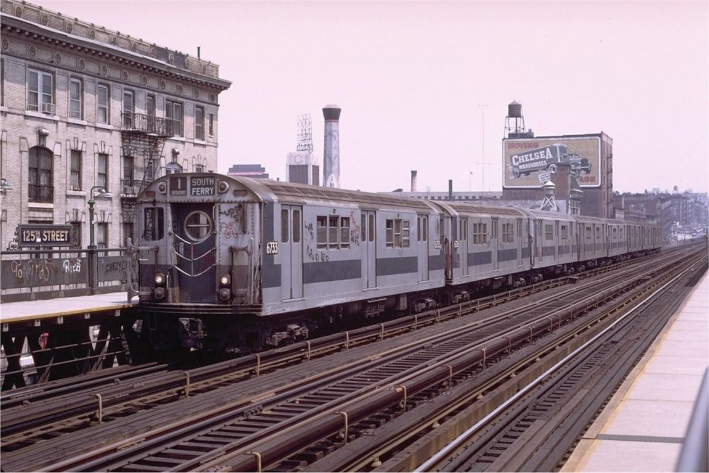 (251k, 1024x683)<br><b>Country:</b> United States<br><b>City:</b> New York<br><b>System:</b> New York City Transit<br><b>Line:</b> IRT West Side Line<br><b>Location:</b> 125th Street <br><b>Route:</b> 1<br><b>Car:</b> R-17 (St. Louis, 1955-56) 6733 <br><b>Photo by:</b> Joe Testagrose<br><b>Date:</b> 6/4/1972<br><b>Viewed (this week/total):</b> 1 / 3032