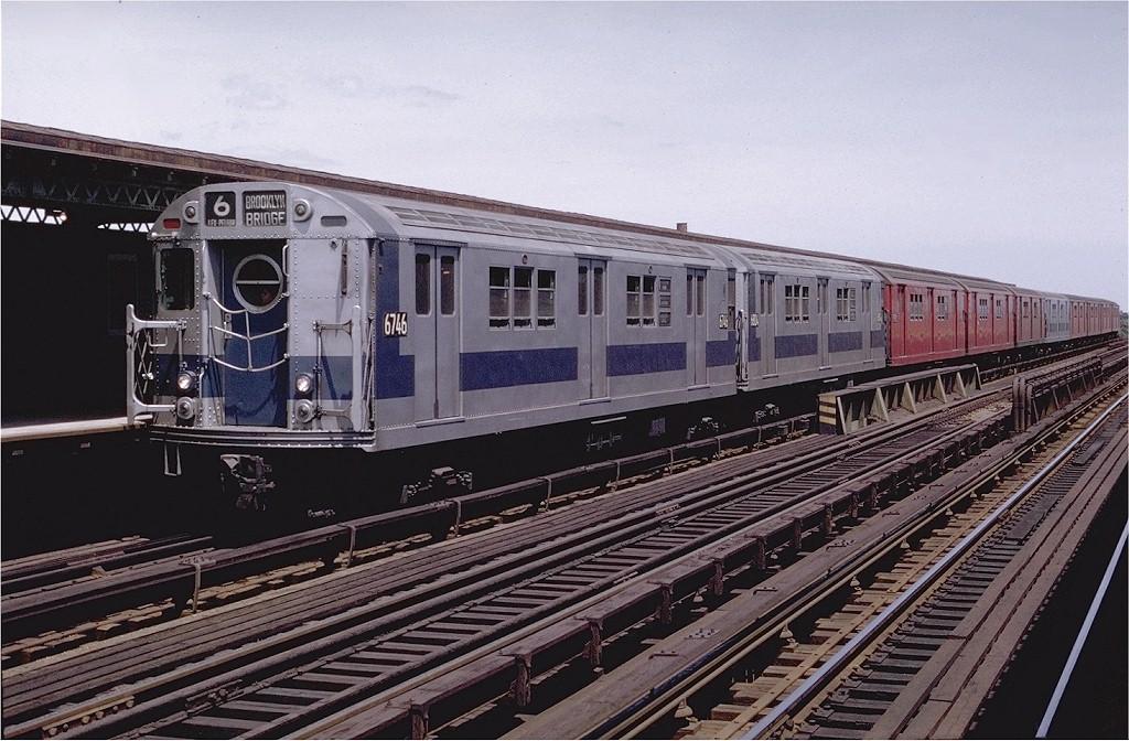 (217k, 1024x672)<br><b>Country:</b> United States<br><b>City:</b> New York<br><b>System:</b> New York City Transit<br><b>Line:</b> IRT Pelham Line<br><b>Location:</b> Castle Hill Avenue <br><b>Route:</b> 6<br><b>Car:</b> R-17 (St. Louis, 1955-56) 6746 <br><b>Photo by:</b> Joe Testagrose<br><b>Date:</b> 6/13/1970<br><b>Viewed (this week/total):</b> 6 / 2880