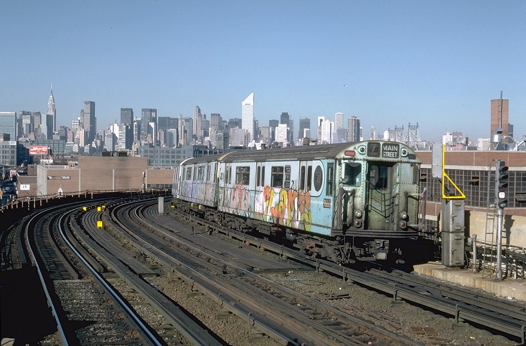 (223k, 1024x674)<br><b>Country:</b> United States<br><b>City:</b> New York<br><b>System:</b> New York City Transit<br><b>Line:</b> IRT Flushing Line<br><b>Location:</b> 33rd Street/Rawson Street <br><b>Route:</b> 7<br><b>Car:</b> R-36 World's Fair (St. Louis, 1963-64) 9666 <br><b>Photo by:</b> Steve Zabel<br><b>Collection of:</b> Joe Testagrose<br><b>Date:</b> 11/3/1981<br><b>Viewed (this week/total):</b> 5 / 5858