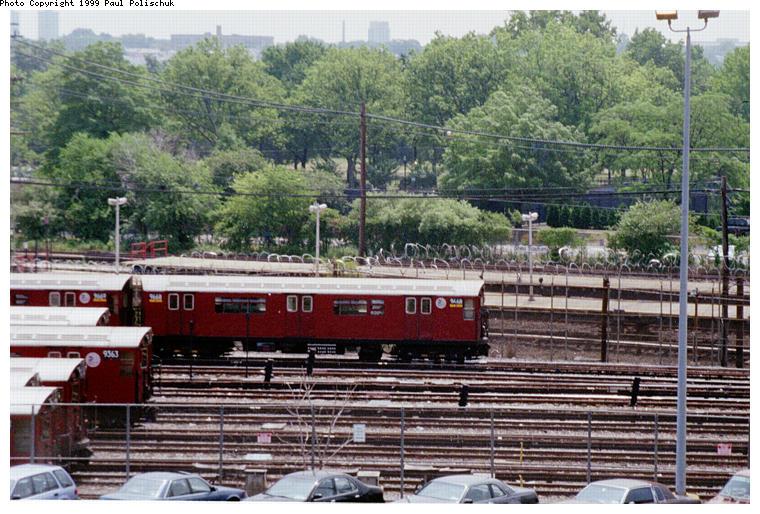 (111k, 760x514)<br><b>Country:</b> United States<br><b>City:</b> New York<br><b>System:</b> New York City Transit<br><b>Location:</b> Corona Yard<br><b>Car:</b> R-36 World's Fair (St. Louis, 1963-64) 9668 <br><b>Photo by:</b> Paul Polischuk<br><b>Date:</b> 6/25/1999<br><b>Viewed (this week/total):</b> 0 / 2840
