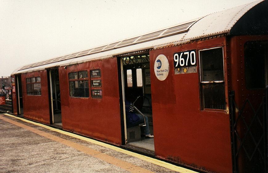 (74k, 870x561)<br><b>Country:</b> United States<br><b>City:</b> New York<br><b>System:</b> New York City Transit<br><b>Line:</b> IRT Flushing Line<br><b>Location:</b> 82nd Street/Jackson Heights <br><b>Route:</b> 7<br><b>Car:</b> R-36 World's Fair (St. Louis, 1963-64) 9670 <br><b>Photo by:</b> Gary Chatterton<br><b>Date:</b> 2002<br><b>Viewed (this week/total):</b> 1 / 3808