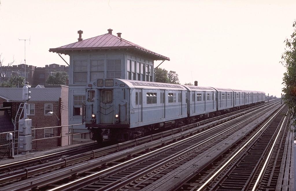 (199k, 1024x663)<br><b>Country:</b> United States<br><b>City:</b> New York<br><b>System:</b> New York City Transit<br><b>Line:</b> IRT Flushing Line<br><b>Location:</b> 103rd Street/Corona Plaza <br><b>Route:</b> 7<br><b>Car:</b> R-36 World's Fair (St. Louis, 1963-64) 9687 <br><b>Photo by:</b> Joe Testagrose<br><b>Date:</b> 6/22/1975<br><b>Viewed (this week/total):</b> 1 / 4286