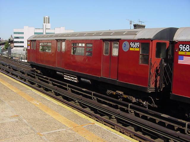 (61k, 640x480)<br><b>Country:</b> United States<br><b>City:</b> New York<br><b>System:</b> New York City Transit<br><b>Line:</b> IRT Flushing Line<br><b>Location:</b> Court House Square/45th Road <br><b>Route:</b> 7<br><b>Car:</b> R-36 World's Fair (St. Louis, 1963-64) 9689 <br><b>Photo by:</b> Salaam Allah<br><b>Date:</b> 9/17/2002<br><b>Viewed (this week/total):</b> 2 / 2483