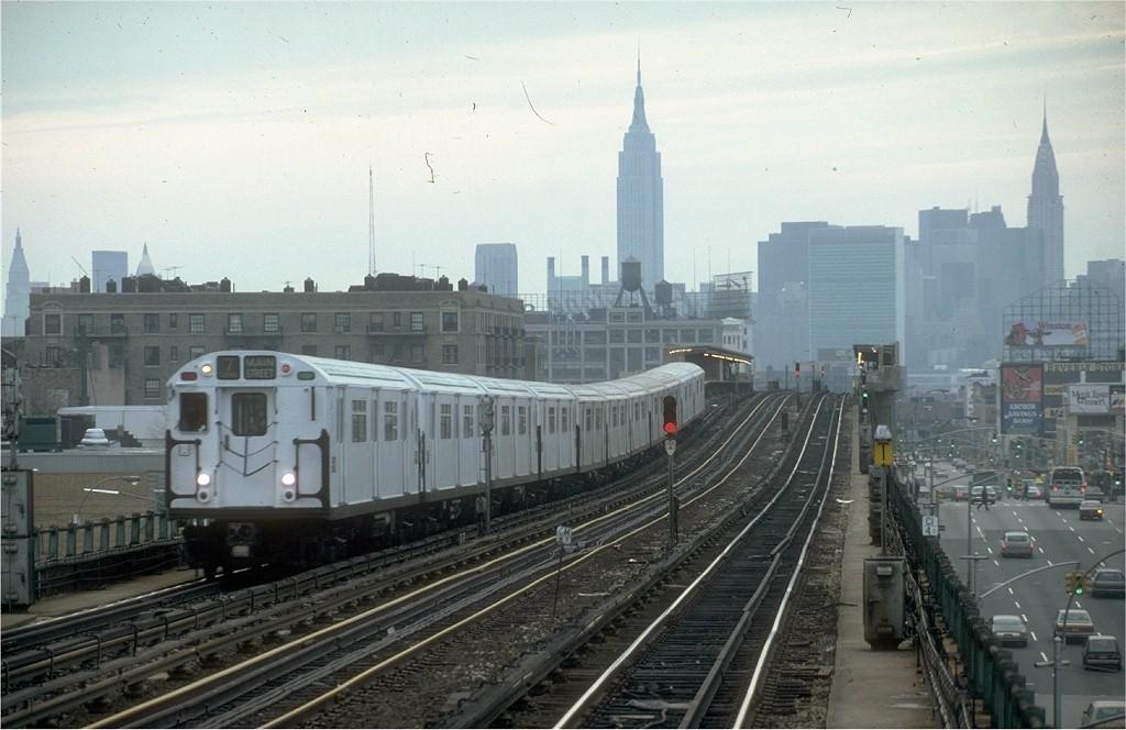 (171k, 1024x664)<br><b>Country:</b> United States<br><b>City:</b> New York<br><b>System:</b> New York City Transit<br><b>Line:</b> IRT Flushing Line<br><b>Location:</b> 46th Street/Bliss Street <br><b>Route:</b> 7<br><b>Car:</b> R-36 World's Fair (St. Louis, 1963-64) 9696 <br><b>Photo by:</b> Steve Zabel<br><b>Collection of:</b> Joe Testagrose<br><b>Date:</b> 2/6/1982<br><b>Viewed (this week/total):</b> 1 / 5890