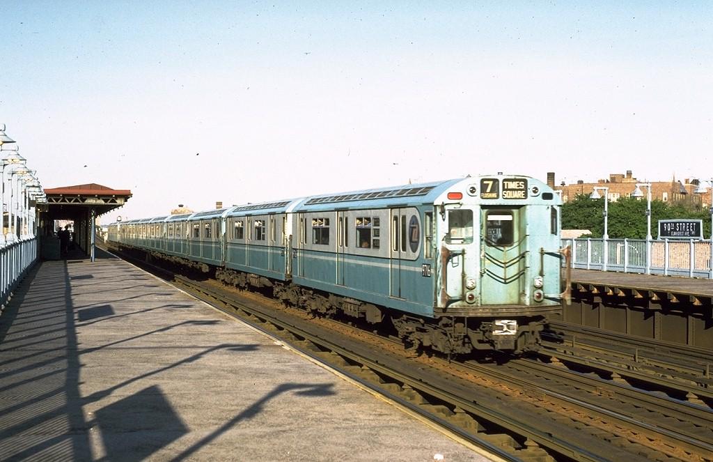 (197k, 1024x663)<br><b>Country:</b> United States<br><b>City:</b> New York<br><b>System:</b> New York City Transit<br><b>Line:</b> IRT Flushing Line<br><b>Location:</b> 90th Street/Elmhurst Avenue <br><b>Route:</b> 7<br><b>Car:</b> R-36 World's Fair (St. Louis, 1963-64) 9716 <br><b>Photo by:</b> Joe Testagrose<br><b>Date:</b> 5/26/1972<br><b>Viewed (this week/total):</b> 1 / 5376