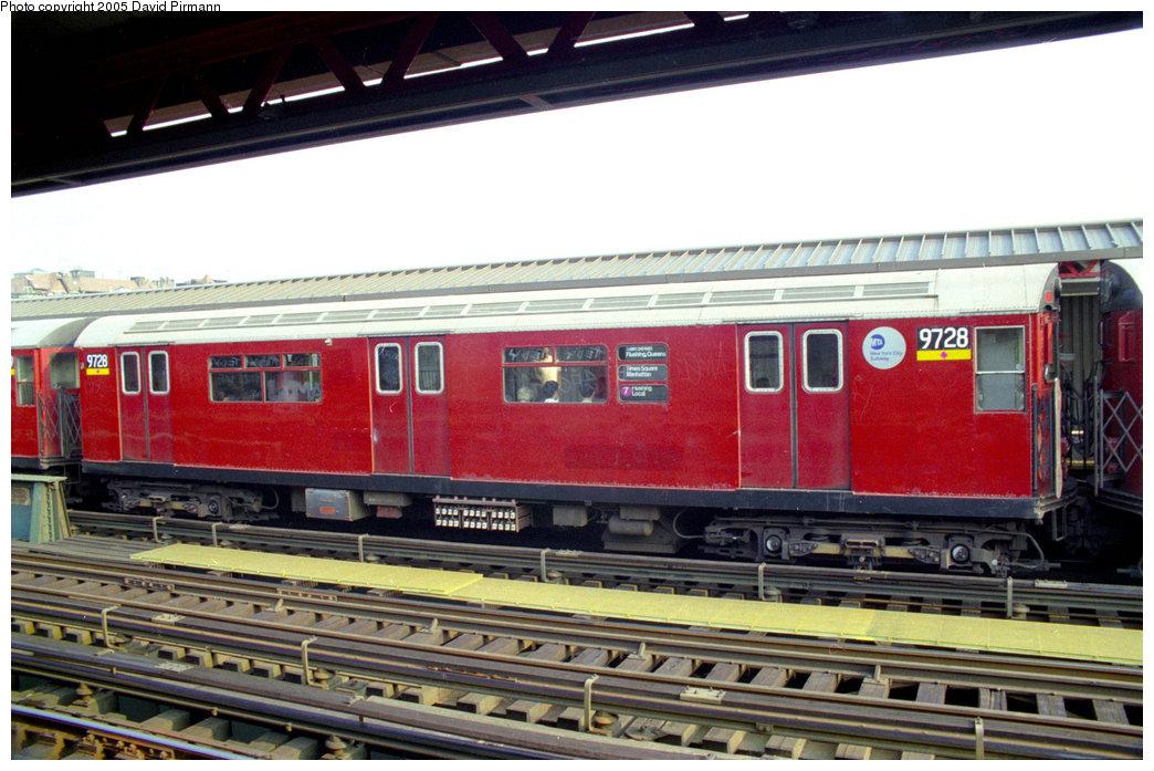 (212k, 1044x697)<br><b>Country:</b> United States<br><b>City:</b> New York<br><b>System:</b> New York City Transit<br><b>Line:</b> IRT Flushing Line<br><b>Location:</b> 74th Street/Broadway <br><b>Route:</b> 7<br><b>Car:</b> R-36 World's Fair (St. Louis, 1963-64) 9728 <br><b>Photo by:</b> David Pirmann<br><b>Date:</b> 7/29/1998<br><b>Viewed (this week/total):</b> 2 / 4032