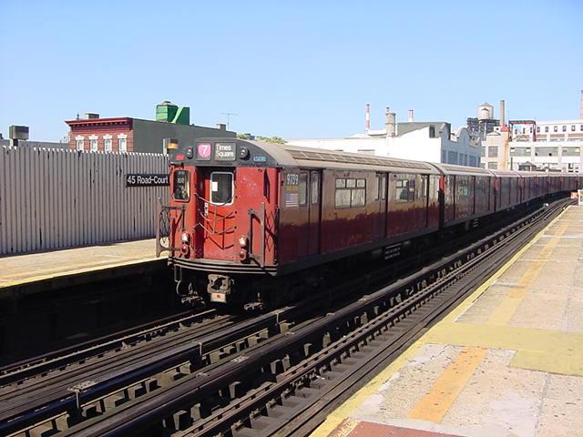 (59k, 640x480)<br><b>Country:</b> United States<br><b>City:</b> New York<br><b>System:</b> New York City Transit<br><b>Line:</b> IRT Flushing Line<br><b>Location:</b> Court House Square/45th Road <br><b>Route:</b> 7<br><b>Car:</b> R-36 World's Fair (St. Louis, 1963-64) 9739 <br><b>Photo by:</b> Salaam Allah<br><b>Date:</b> 9/17/2002<br><b>Viewed (this week/total):</b> 0 / 3792