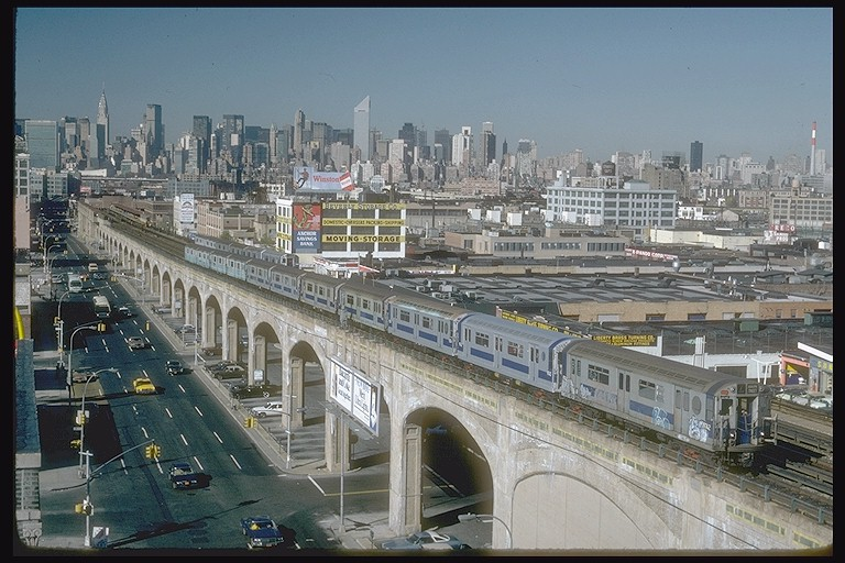 (140k, 768x512)<br><b>Country:</b> United States<br><b>City:</b> New York<br><b>System:</b> New York City Transit<br><b>Line:</b> IRT Flushing Line<br><b>Location:</b> 40th Street/Lowery Street <br><b>Route:</b> 7<br><b>Car:</b> R-36 World's Fair (St. Louis, 1963-64) 9732 <br><b>Collection of:</b> Joe Testagrose<br><b>Date:</b> 11/3/1981<br><b>Viewed (this week/total):</b> 2 / 5646