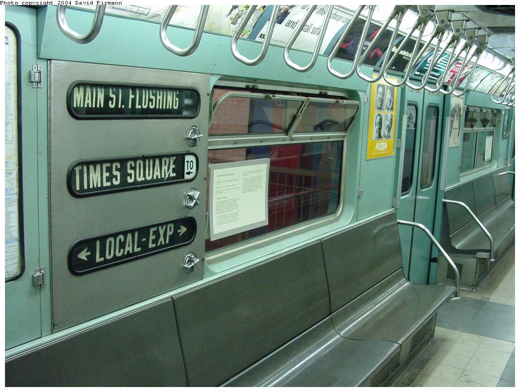 (135k, 1044x788)<br><b>Country:</b> United States<br><b>City:</b> New York<br><b>System:</b> New York City Transit<br><b>Location:</b> New York Transit Museum<br><b>Car:</b> R-33 World's Fair (St. Louis, 1963-64) 9306 <br><b>Photo by:</b> David Pirmann<br><b>Date:</b> 3/12/2000<br><b>Viewed (this week/total):</b> 0 / 6497