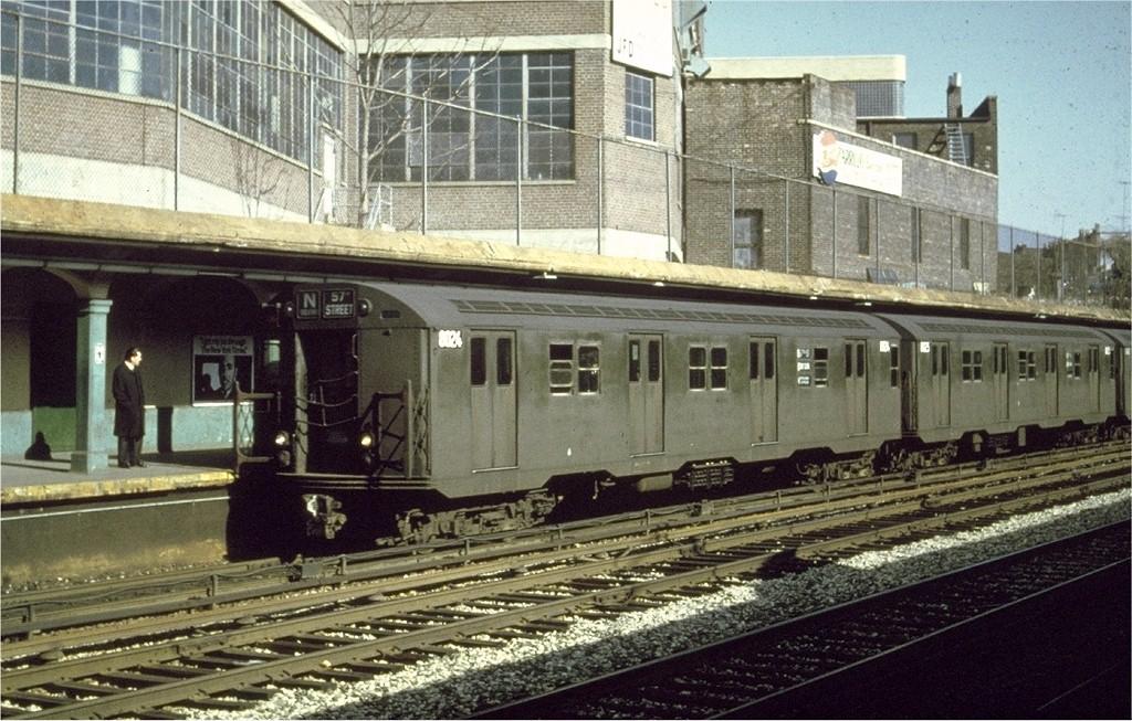 (233k, 1024x653)<br><b>Country:</b> United States<br><b>City:</b> New York<br><b>System:</b> New York City Transit<br><b>Line:</b> BMT Sea Beach Line<br><b>Location:</b> New Utrecht Avenue <br><b>Route:</b> N<br><b>Car:</b> R-27 (St. Louis, 1960)  8024 <br><b>Photo by:</b> Doug Grotjahn<br><b>Collection of:</b> Joe Testagrose<br><b>Date:</b> 6/1968<br><b>Viewed (this week/total):</b> 1 / 5723