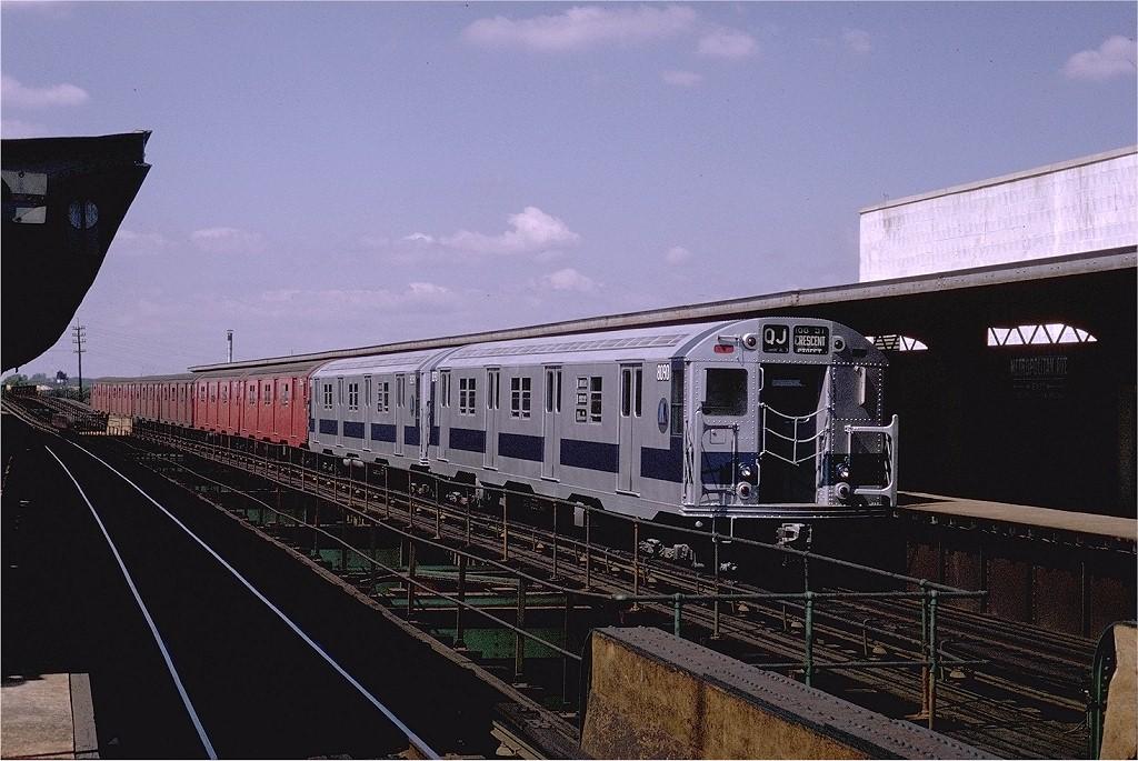 (207k, 1024x685)<br><b>Country:</b> United States<br><b>City:</b> New York<br><b>System:</b> New York City Transit<br><b>Line:</b> BMT Nassau Street/Jamaica Line<br><b>Location:</b> Metropolitan Avenue (Demolished) <br><b>Route:</b> QJ<br><b>Car:</b> R-27 (St. Louis, 1960)  8090 <br><b>Photo by:</b> Joe Testagrose<br><b>Date:</b> 9/6/1970<br><b>Viewed (this week/total):</b> 7 / 4991