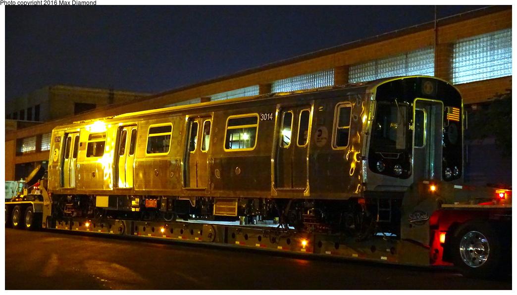 (251k, 1044x596)<br><b>Country:</b> United States<br><b>City:</b> New York<br><b>System:</b> New York City Transit<br><b>Location:</b> 207th Street Yard<br><b>Car:</b> R-179 (Bombardier, 2016-) 3014 <br><b>Photo by:</b> Max Diamond<br><b>Date:</b> 9/6/2016<br><b>Notes:</b> First R-179 delivery<br><b>Viewed (this week/total):</b> 0 / 1497