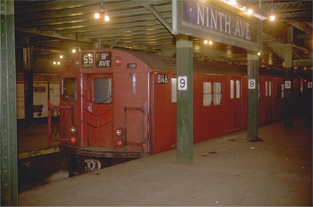 (226k, 1024x679)<br><b>Country:</b> United States<br><b>City:</b> New York<br><b>System:</b> New York City Transit<br><b>Line:</b> BMT Culver Line<br><b>Location:</b> 9th Avenue (Lower Level) <br><b>Route:</b> Culver Shuttle<br><b>Car:</b> R-27 (St. Louis, 1960)  8146 <br><b>Photo by:</b> Joe Testagrose<br><b>Date:</b> 12/26/1970<br><b>Viewed (this week/total):</b> 1 / 6448