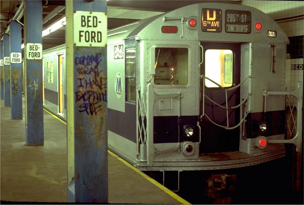 (174k, 1024x692)<br><b>Country:</b> United States<br><b>City:</b> New York<br><b>System:</b> New York City Transit<br><b>Line:</b> IND Concourse Line<br><b>Location:</b> Bedford Park Boulevard <br><b>Route:</b> D<br><b>Car:</b> R-27 (St. Louis, 1960)  8168 <br><b>Collection of:</b> Joe Testagrose<br><b>Date:</b> 8/8/1980<br><b>Viewed (this week/total):</b> 0 / 5874
