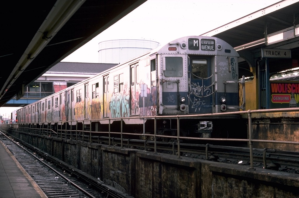 (187k, 1024x679)<br><b>Country:</b> United States<br><b>City:</b> New York<br><b>System:</b> New York City Transit<br><b>Location:</b> Coney Island/Stillwell Avenue<br><b>Route:</b> M<br><b>Car:</b> R-27 (St. Louis, 1960)  8179 <br><b>Photo by:</b> Doug Grotjahn<br><b>Collection of:</b> Joe Testagrose<br><b>Date:</b> 6/1/1976<br><b>Viewed (this week/total):</b> 5 / 5340