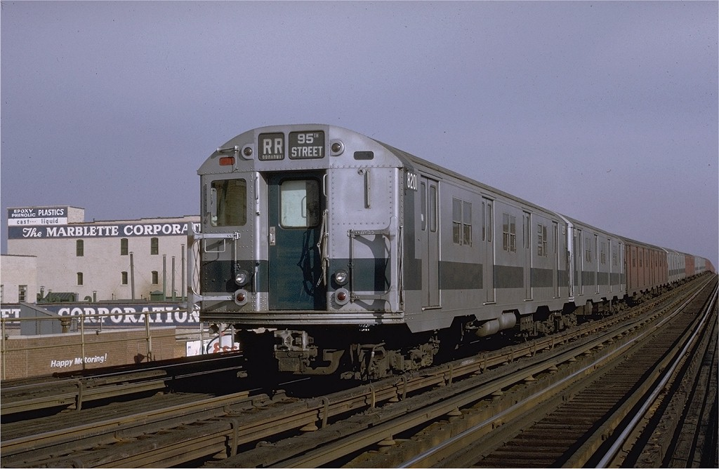 (177k, 1024x669)<br><b>Country:</b> United States<br><b>City:</b> New York<br><b>System:</b> New York City Transit<br><b>Line:</b> BMT Astoria Line<br><b>Location:</b> 39th/Beebe Aves. <br><b>Route:</b> RR<br><b>Car:</b> R-27 (St. Louis, 1960)  8201 <br><b>Photo by:</b> Joe Testagrose<br><b>Date:</b> 11/26/1970<br><b>Viewed (this week/total):</b> 0 / 3428