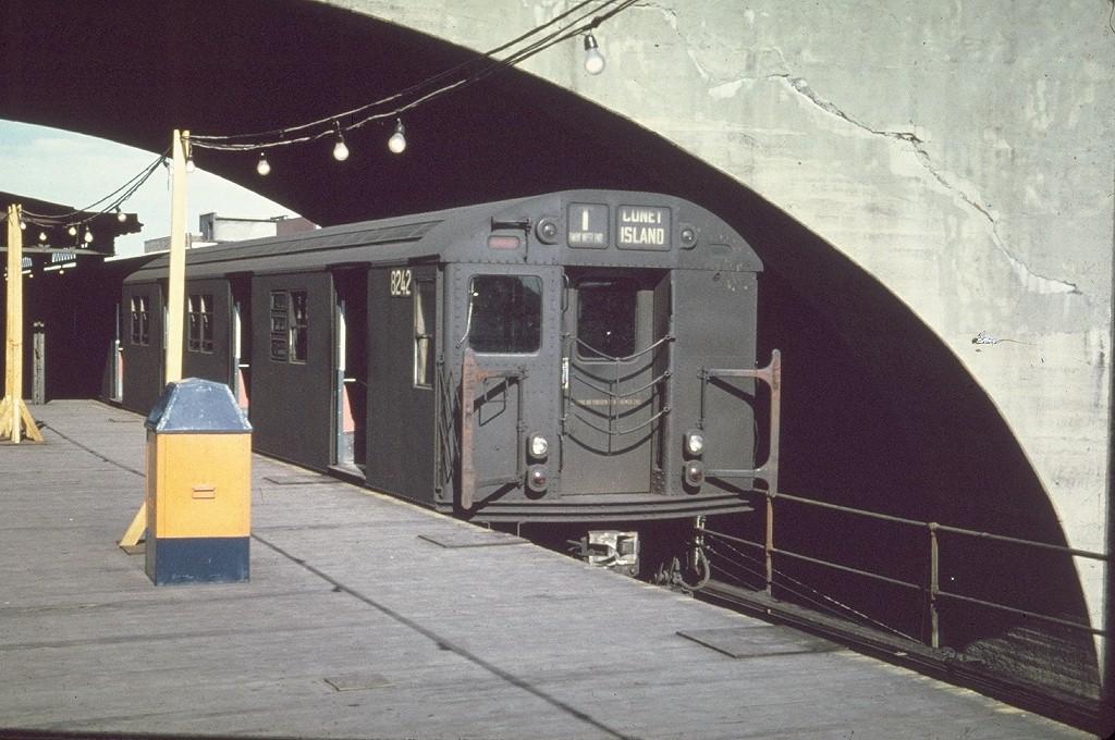 (211k, 1024x680)<br><b>Country:</b> United States<br><b>City:</b> New York<br><b>System:</b> New York City Transit<br><b>Line:</b> BMT Astoria Line<br><b>Location:</b> Ditmars Boulevard <br><b>Route:</b> T<br><b>Car:</b> R-27 (St. Louis, 1960)  8242 <br><b>Collection of:</b> Joe Testagrose<br><b>Viewed (this week/total):</b> 2 / 4206
