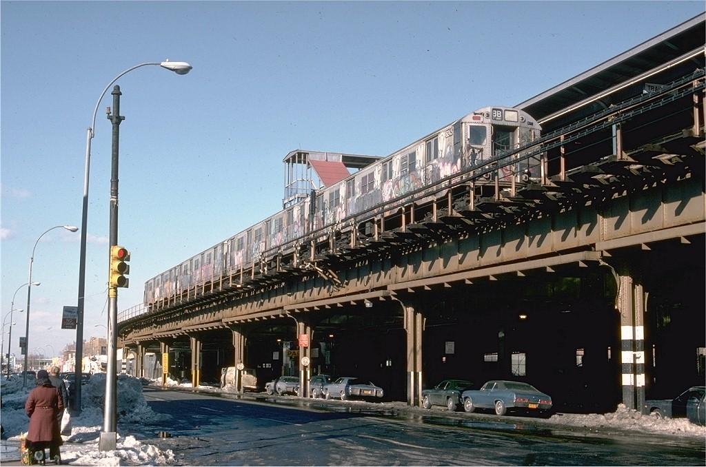 (211k, 1024x678)<br><b>Country:</b> United States<br><b>City:</b> New York<br><b>System:</b> New York City Transit<br><b>Location:</b> Coney Island/Stillwell Avenue<br><b>Route:</b> B<br><b>Car:</b> R-27 (St. Louis, 1960)  8245 <br><b>Photo by:</b> Steve Zabel<br><b>Collection of:</b> Joe Testagrose<br><b>Date:</b> 2/12/1978<br><b>Viewed (this week/total):</b> 1 / 6096