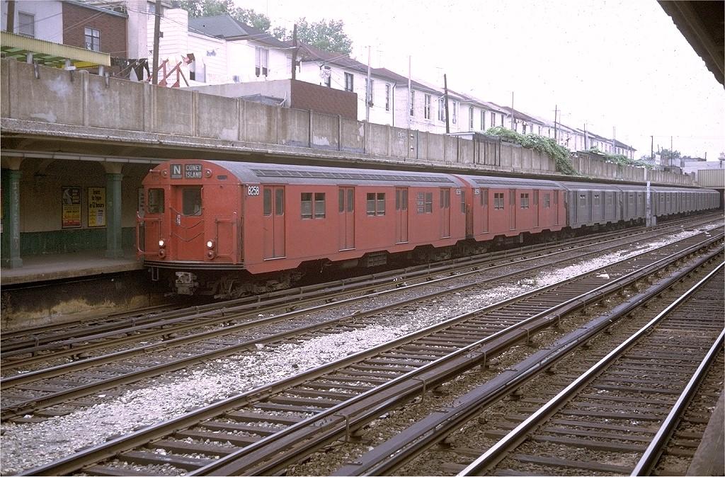 (277k, 1024x674)<br><b>Country:</b> United States<br><b>City:</b> New York<br><b>System:</b> New York City Transit<br><b>Line:</b> BMT Sea Beach Line<br><b>Location:</b> Avenue U <br><b>Route:</b> N<br><b>Car:</b> R-30 (St. Louis, 1961) 8258 <br><b>Photo by:</b> Joe Testagrose<br><b>Date:</b> 6/21/1969<br><b>Viewed (this week/total):</b> 1 / 4300