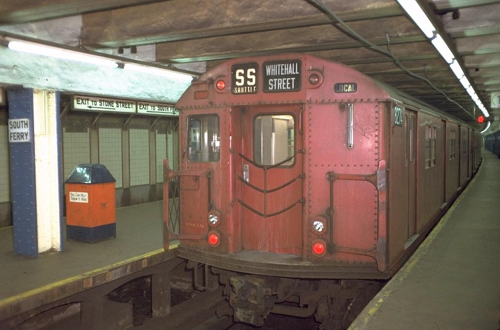 (171k, 1024x676)<br><b>Country:</b> United States<br><b>City:</b> New York<br><b>System:</b> New York City Transit<br><b>Line:</b> BMT Broadway Line<br><b>Location:</b> Whitehall Street <br><b>Car:</b> R-30 (St. Louis, 1961) 8274 <br><b>Photo by:</b> Doug Grotjahn<br><b>Collection of:</b> Joe Testagrose<br><b>Date:</b> 11/11/1972<br><b>Viewed (this week/total):</b> 0 / 4303