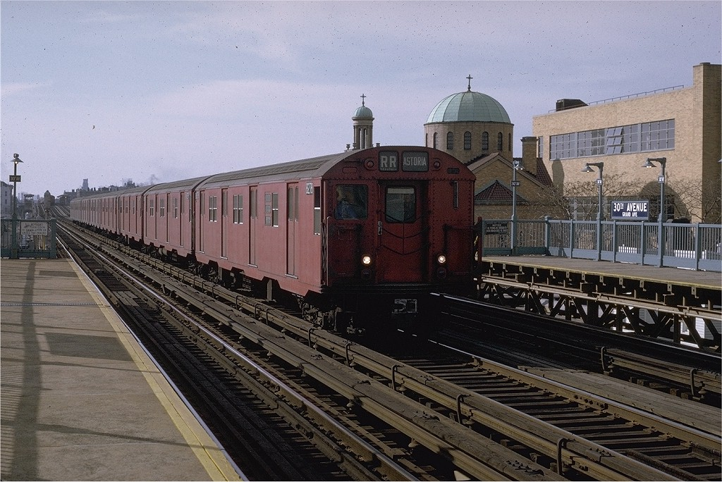 (235k, 1024x684)<br><b>Country:</b> United States<br><b>City:</b> New York<br><b>System:</b> New York City Transit<br><b>Line:</b> BMT Astoria Line<br><b>Location:</b> 30th/Grand Aves. <br><b>Route:</b> RR<br><b>Car:</b> R-30 (St. Louis, 1961) 8278 <br><b>Photo by:</b> Joe Testagrose<br><b>Date:</b> 11/26/1970<br><b>Viewed (this week/total):</b> 3 / 3171