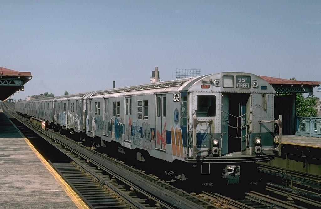 (183k, 1024x667)<br><b>Country:</b> United States<br><b>City:</b> New York<br><b>System:</b> New York City Transit<br><b>Line:</b> BMT Astoria Line<br><b>Location:</b> 39th/Beebe Aves. <br><b>Route:</b> RR<br><b>Car:</b> R-30 (St. Louis, 1961) 8346 <br><b>Photo by:</b> Ed McKernan<br><b>Collection of:</b> Joe Testagrose<br><b>Date:</b> 6/1976<br><b>Viewed (this week/total):</b> 3 / 4204
