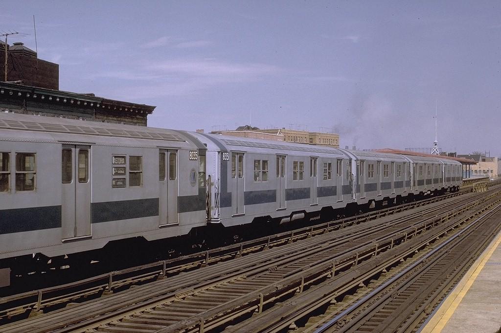 (214k, 1024x680)<br><b>Country:</b> United States<br><b>City:</b> New York<br><b>System:</b> New York City Transit<br><b>Line:</b> BMT Astoria Line<br><b>Location:</b> 30th/Grand Aves. <br><b>Route:</b> RR<br><b>Car:</b> R-30 (St. Louis, 1961) 8351 <br><b>Photo by:</b> Joe Testagrose<br><b>Date:</b> 3/28/1971<br><b>Viewed (this week/total):</b> 3 / 3032