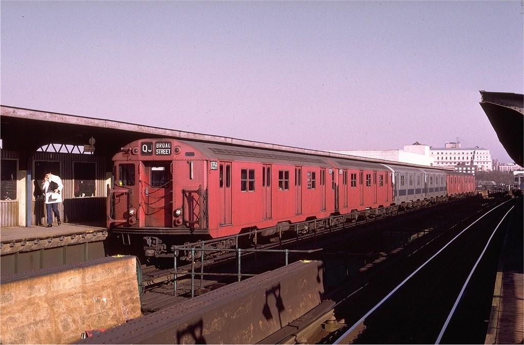 (210k, 1024x675)<br><b>Country:</b> United States<br><b>City:</b> New York<br><b>System:</b> New York City Transit<br><b>Line:</b> BMT Nassau Street/Jamaica Line<br><b>Location:</b> Metropolitan Avenue (Demolished) <br><b>Route:</b> QJ<br><b>Car:</b> R-30 (St. Louis, 1961) 8359 <br><b>Photo by:</b> Joe Testagrose<br><b>Date:</b> 12/3/1973<br><b>Viewed (this week/total):</b> 0 / 4416