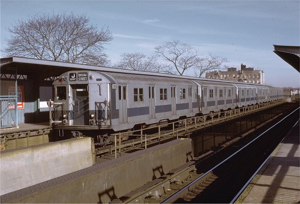 (250k, 1024x697)<br><b>Country:</b> United States<br><b>City:</b> New York<br><b>System:</b> New York City Transit<br><b>Line:</b> BMT Nassau Street/Jamaica Line<br><b>Location:</b> 75th Street/Elderts Lane <br><b>Route:</b> J<br><b>Car:</b> R-30 (St. Louis, 1961) 8372 <br><b>Photo by:</b> Joe Testagrose<br><b>Date:</b> 1/21/1973<br><b>Viewed (this week/total):</b> 0 / 4108