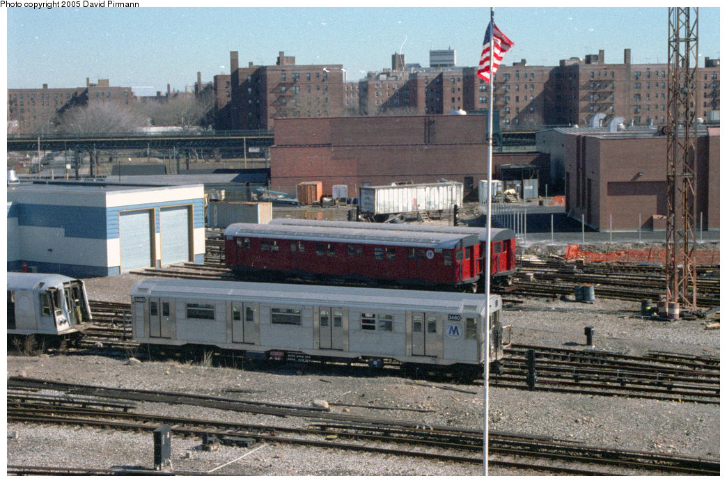 (275k, 1044x694)<br><b>Country:</b> United States<br><b>City:</b> New York<br><b>System:</b> New York City Transit<br><b>Location:</b> Coney Island Yard-Training Facilities<br><b>Car:</b> R-30 (St. Louis, 1961) 8392/8401 <br><b>Photo by:</b> David Pirmann<br><b>Date:</b> 2/24/1996<br><b>Notes:</b> Two R30 cars (8392, 8401) used as Fire School Cars, and R32 3480.<br><b>Viewed (this week/total):</b> 5 / 10164