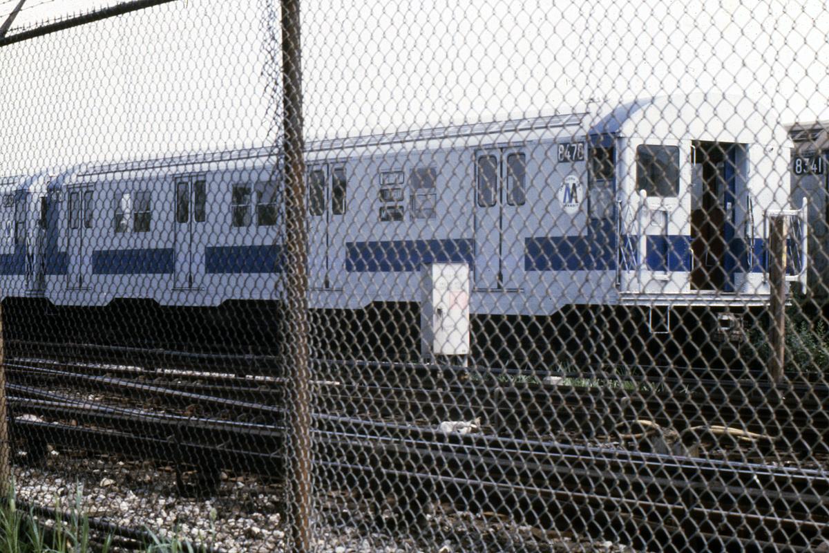 (519k, 1024x683)<br><b>Country:</b> United States<br><b>City:</b> New York<br><b>System:</b> New York City Transit<br><b>Location:</b> Coney Island Yard<br><b>Car:</b> R-30 (St. Louis, 1961) 8475 <br><b>Photo by:</b> Steve Hoskins<br><b>Collection of:</b> David Pirmann<br><b>Date:</b> 8/1979<br><b>Viewed (this week/total):</b> 1 / 3326