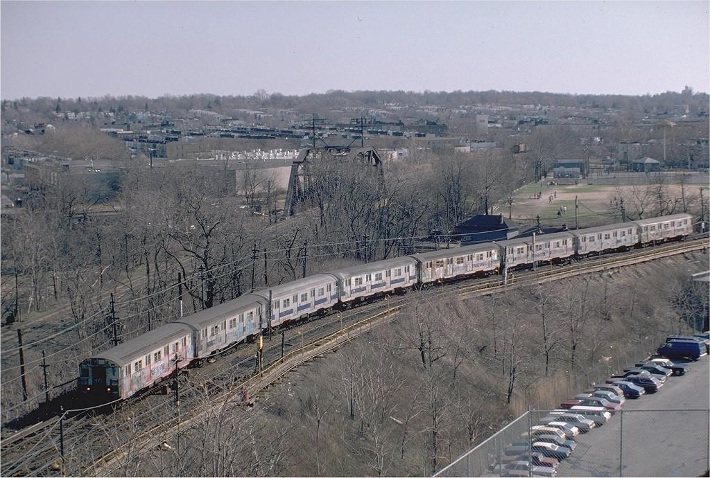 (268k, 1024x690)<br><b>Country:</b> United States<br><b>City:</b> New York<br><b>System:</b> New York City Transit<br><b>Line:</b> BMT Myrtle Avenue Line<br><b>Location:</b> Metropolitan Avenue <br><b>Route:</b> M<br><b>Car:</b> R-30 (St. Louis, 1961) 8541 <br><b>Photo by:</b> Steve Zabel<br><b>Collection of:</b> Joe Testagrose<br><b>Date:</b> 4/14/1982<br><b>Viewed (this week/total):</b> 6 / 9152
