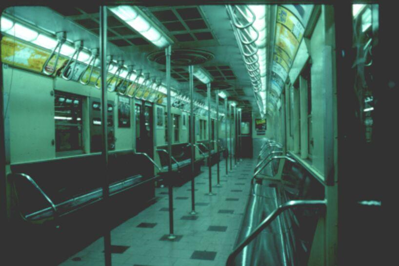 (54k, 818x546)<br><b>Country:</b> United States<br><b>City:</b> New York<br><b>System:</b> New York City Transit<br><b>Car:</b> R-30 (St. Louis, 1961) 8569 <br><b>Photo by:</b> Glenn L. Rowe<br><b>Date:</b> 1993<br><b>Viewed (this week/total):</b> 3 / 11788
