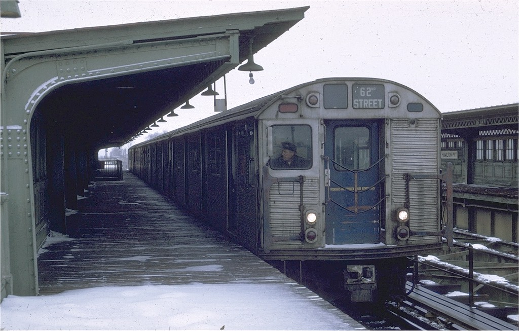 (196k, 1024x653)<br><b>Country:</b> United States<br><b>City:</b> New York<br><b>System:</b> New York City Transit<br><b>Line:</b> BMT Culver Line<br><b>Location:</b> Fort Hamilton Parkway <br><b>Route:</b> Culver Shuttle<br><b>Car:</b> R-32 (Budd, 1964)  3362 <br><b>Photo by:</b> Joe Testagrose<br><b>Date:</b> 12/27/1969<br><b>Viewed (this week/total):</b> 3 / 7485