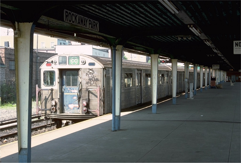 (183k, 1024x691)<br><b>Country:</b> United States<br><b>City:</b> New York<br><b>System:</b> New York City Transit<br><b>Line:</b> IND Rockaway<br><b>Location:</b> Rockaway Park/Beach 116th Street <br><b>Route:</b> CC<br><b>Car:</b> R-32 (Budd, 1964)  3369 <br><b>Photo by:</b> Doug Grotjahn<br><b>Collection of:</b> Joe Testagrose<br><b>Date:</b> 6/3/1977<br><b>Viewed (this week/total):</b> 1 / 5417