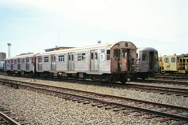 (130k, 600x400)<br><b>Country:</b> United States<br><b>City:</b> New York<br><b>System:</b> New York City Transit<br><b>Location:</b> Coney Island Yard<br><b>Car:</b> R-32 (Budd, 1964)  3374 <br><b>Photo by:</b> Sidney Keyles<br><b>Date:</b> 5/22/1999<br><b>Viewed (this week/total):</b> 0 / 4187